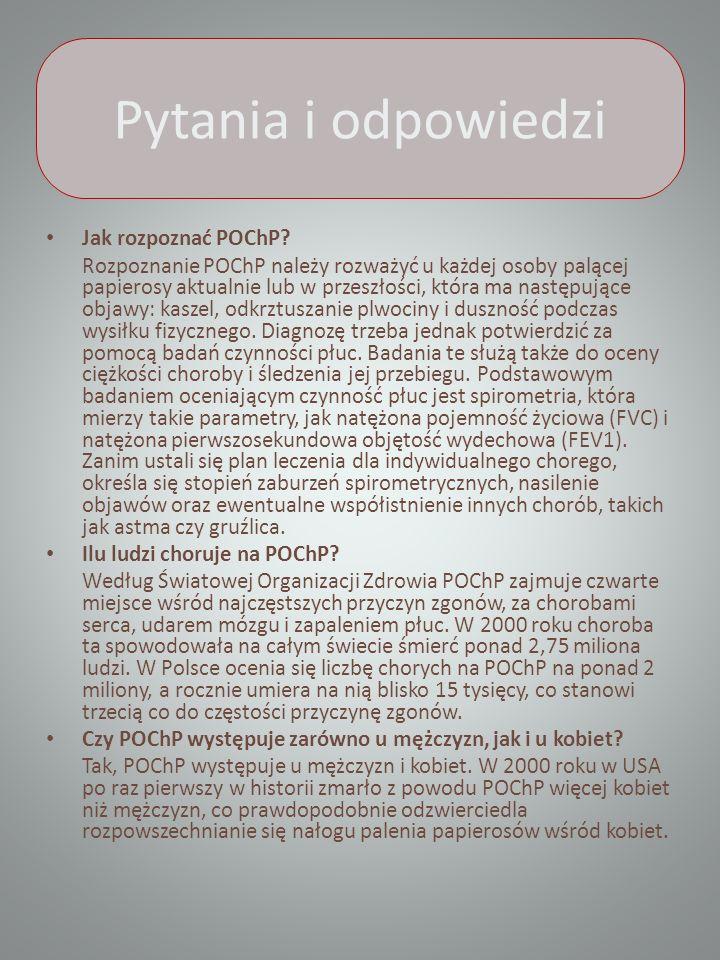Pytania i odpowiedzi Jak rozpoznać POChP.