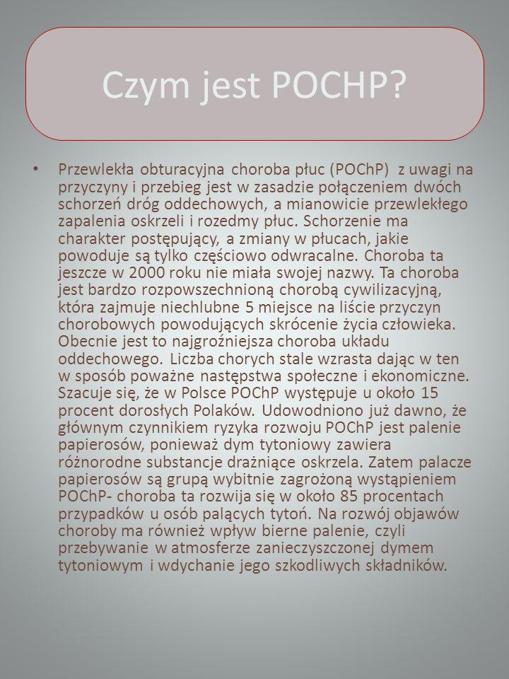 Czym jest POCHP? Przewlekła obturacyjna choroba płuc (POChP) z uwagi na przyczyny i przebieg jest w zasadzie połączeniem dwóch schorzeń dróg oddechowy