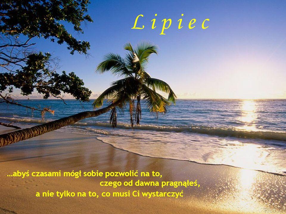 L i p i e c …abyś czasami mógł sobie pozwolić na to, czego od dawna pragnąłeś, a nie tylko na to, co musi Ci wystarczyć