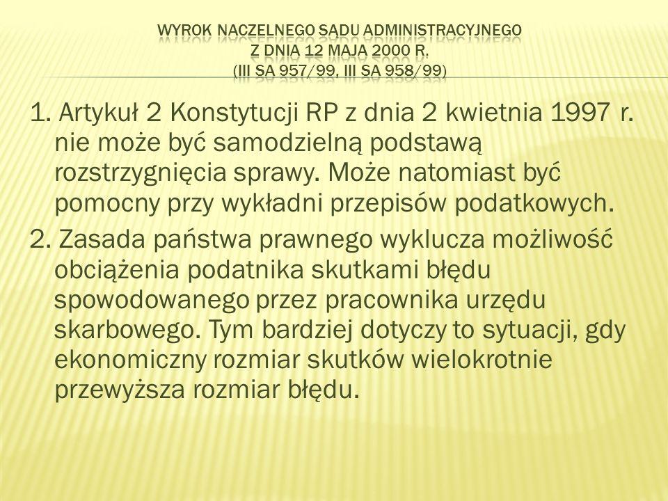 1. Artykuł 2 Konstytucji RP z dnia 2 kwietnia 1997 r.