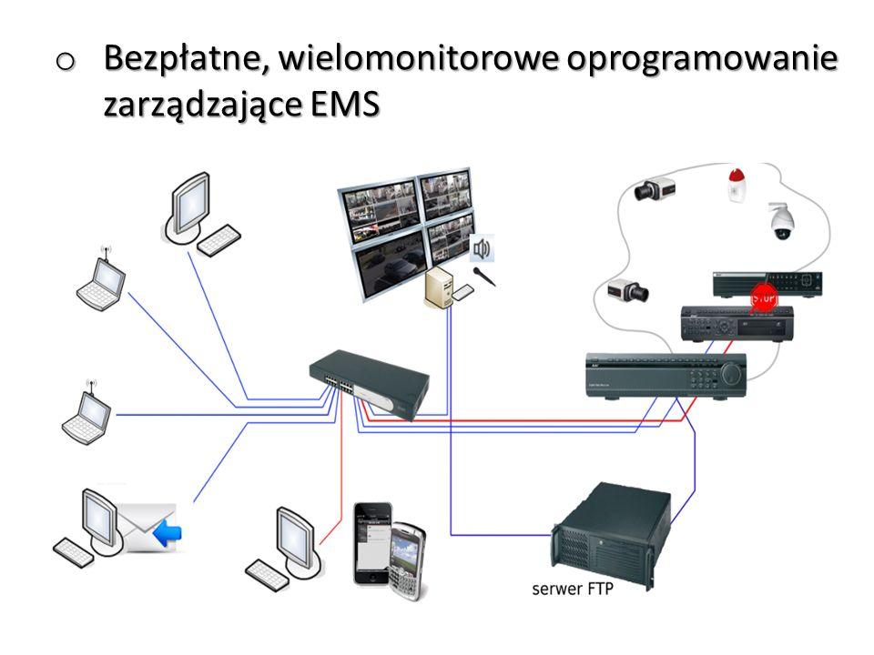 o Obsługa do 999 rejestratorów o Obsługa wielomonitorowa o Wielofunkcyjność – podgląd na żywo, odtwarzanie, przeglądanie zdarzeń z różnych rejestratorów o Powiadamianie o zdarzeniach - wyskakujące okienka, komunikaty, sygnały dźwiękowe o Konfiguracja czynności zdarzeniowych o Wielopoziomowe E-MAPY synoptyczne