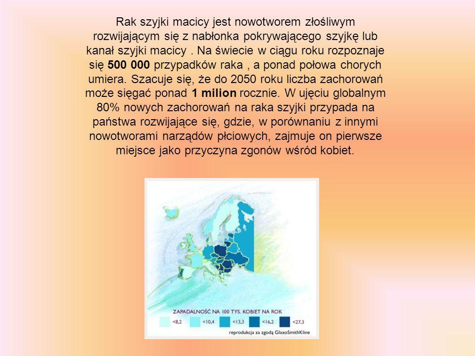 Rak szyjki macicy jest nowotworem złośliwym rozwijającym się z nabłonka pokrywającego szyjkę lub kanał szyjki macicy. Na świecie w ciągu roku rozpozna