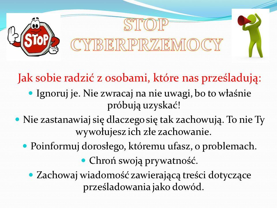 Cyberprzemoc Przez Internet również możemy doświadczyć cyberpzremocy. Czym właściwie ona jest – to prześladowanie kogoś w sieci poprzez złośliwe komen