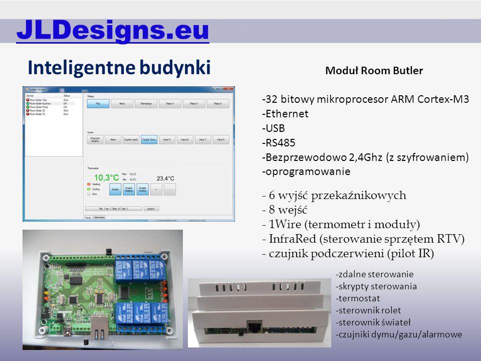 JLDesigns.eu Moduł Room Butler -32 bitowy mikroprocesor ARM Cortex-M3 -Ethernet -USB -RS485 -Bezprzewodowo 2,4Ghz (z szyfrowaniem) -oprogramowanie - 6