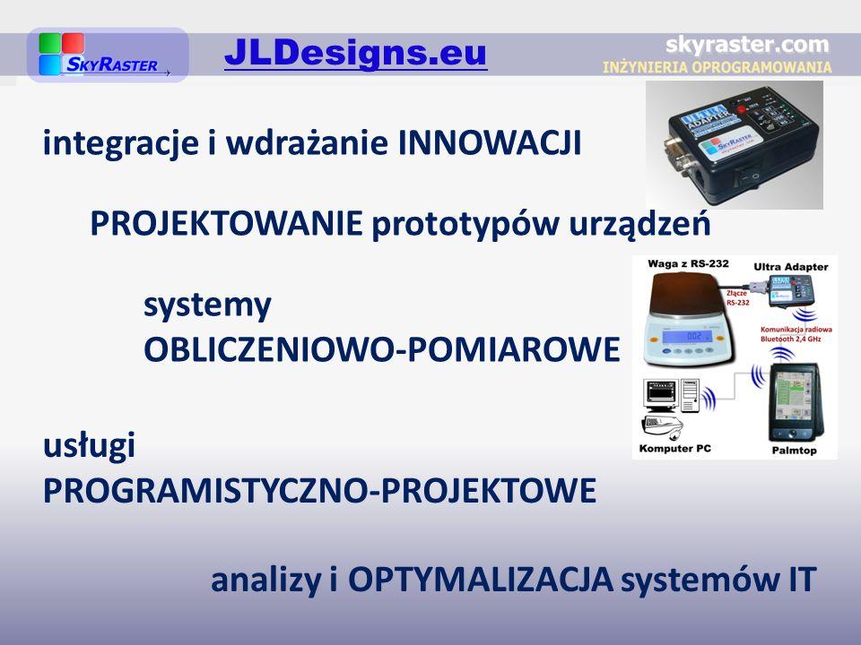 PROJEKTOWANIE prototypów urządzeń usługi PROGRAMISTYCZNO-PROJEKTOWE integracje i wdrażanie INNOWACJI analizy i OPTYMALIZACJA systemów IT systemy OBLIC