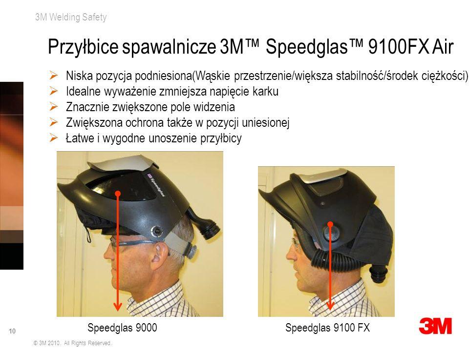 3M Welding Safety 10 © 3M 2010. All Rights Reserved. Niska pozycja podniesiona(Wąskie przestrzenie/większa stabilność/środek ciężkości) Idealne wyważe