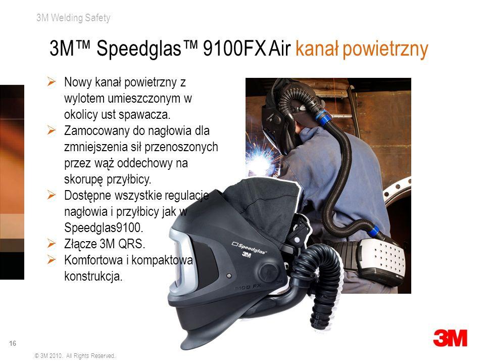 3M Welding Safety 16 © 3M 2010. All Rights Reserved. 3M Speedglas 9100FX Air kanał powietrzny Nowy kanał powietrzny z wylotem umieszczonym w okolicy u
