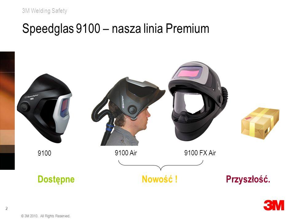3M Welding Safety 2 © 3M 2010. All Rights Reserved. Speedglas 9100 – nasza linia Premium Dostępne Nowość ! Przyszłość. 9100 9100 Air9100 FX Air