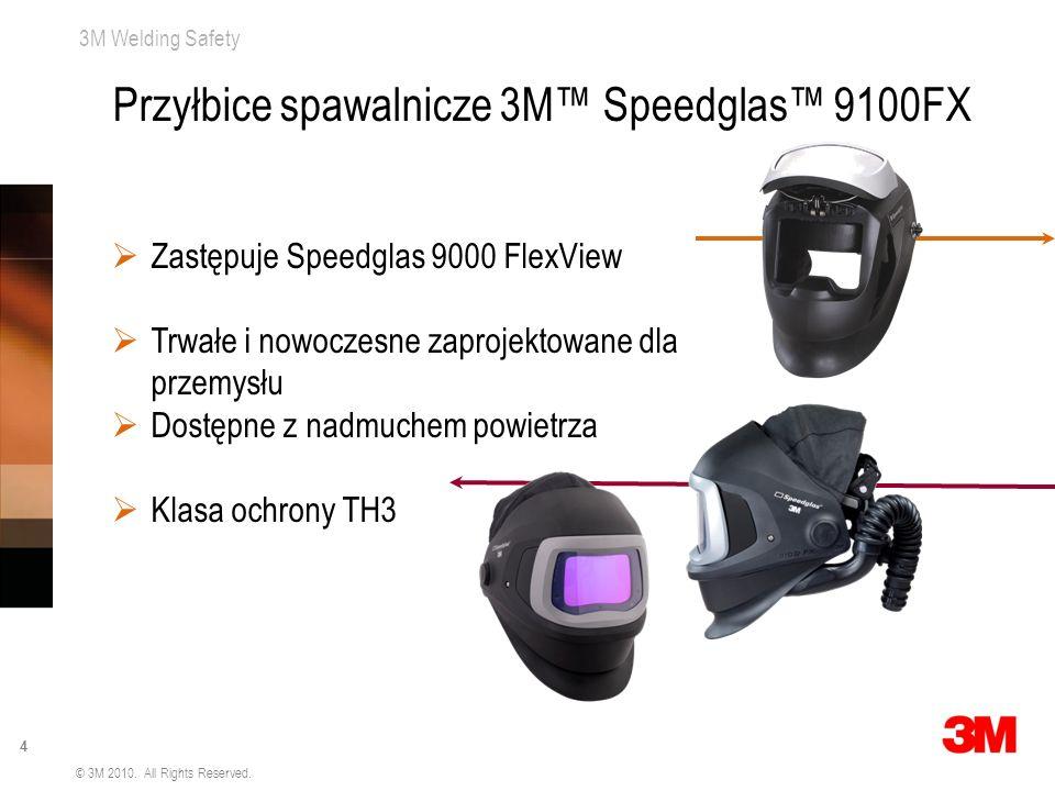 3M Welding Safety 4 © 3M 2010. All Rights Reserved. Zastępuje Speedglas 9000 FlexView Trwałe i nowoczesne zaprojektowane dla przemysłu Dostępne z nadm