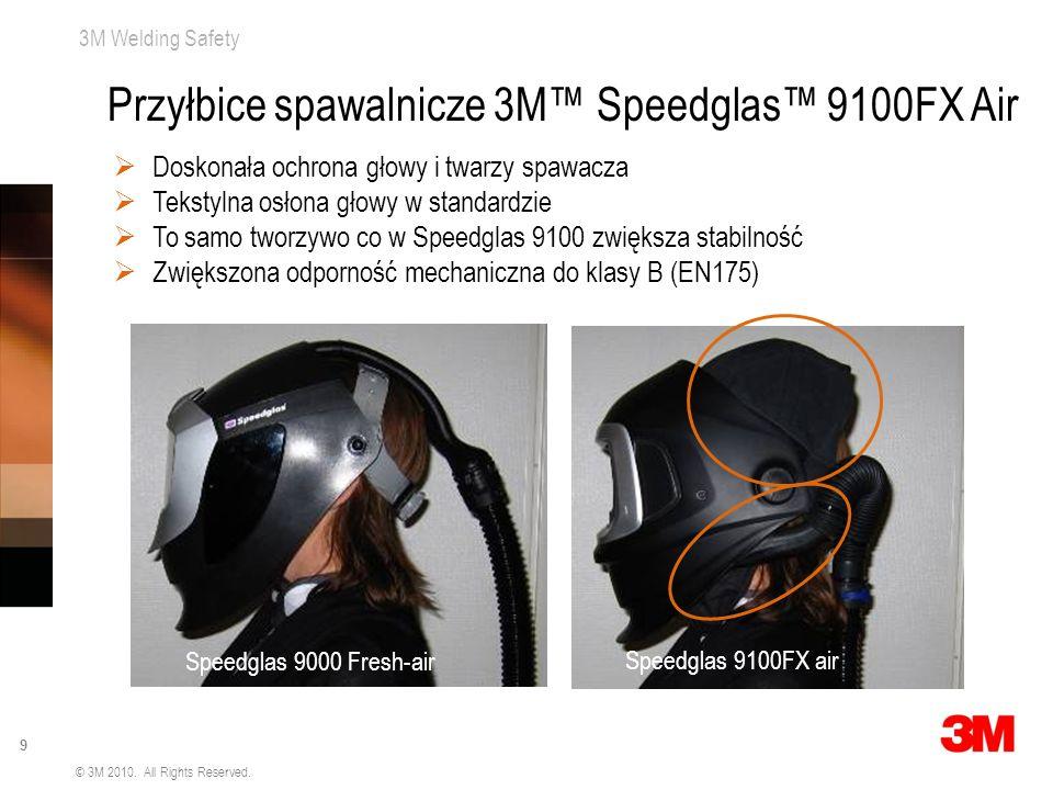 3M Welding Safety 9 © 3M 2010. All Rights Reserved. Doskonała ochrona głowy i twarzy spawacza Tekstylna osłona głowy w standardzie To samo tworzywo co