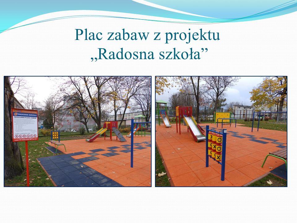 Plac zabaw z projektu Radosna szkoła