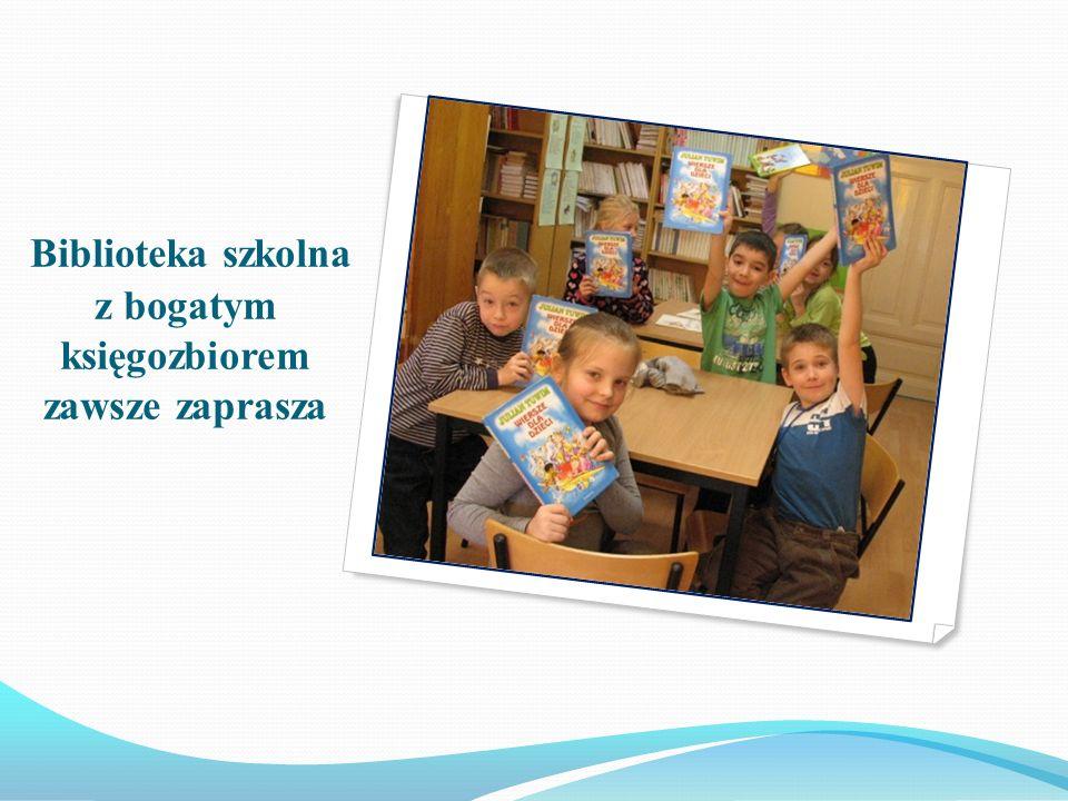 Biblioteka szkolna z bogatym księgozbiorem zawsze zaprasza