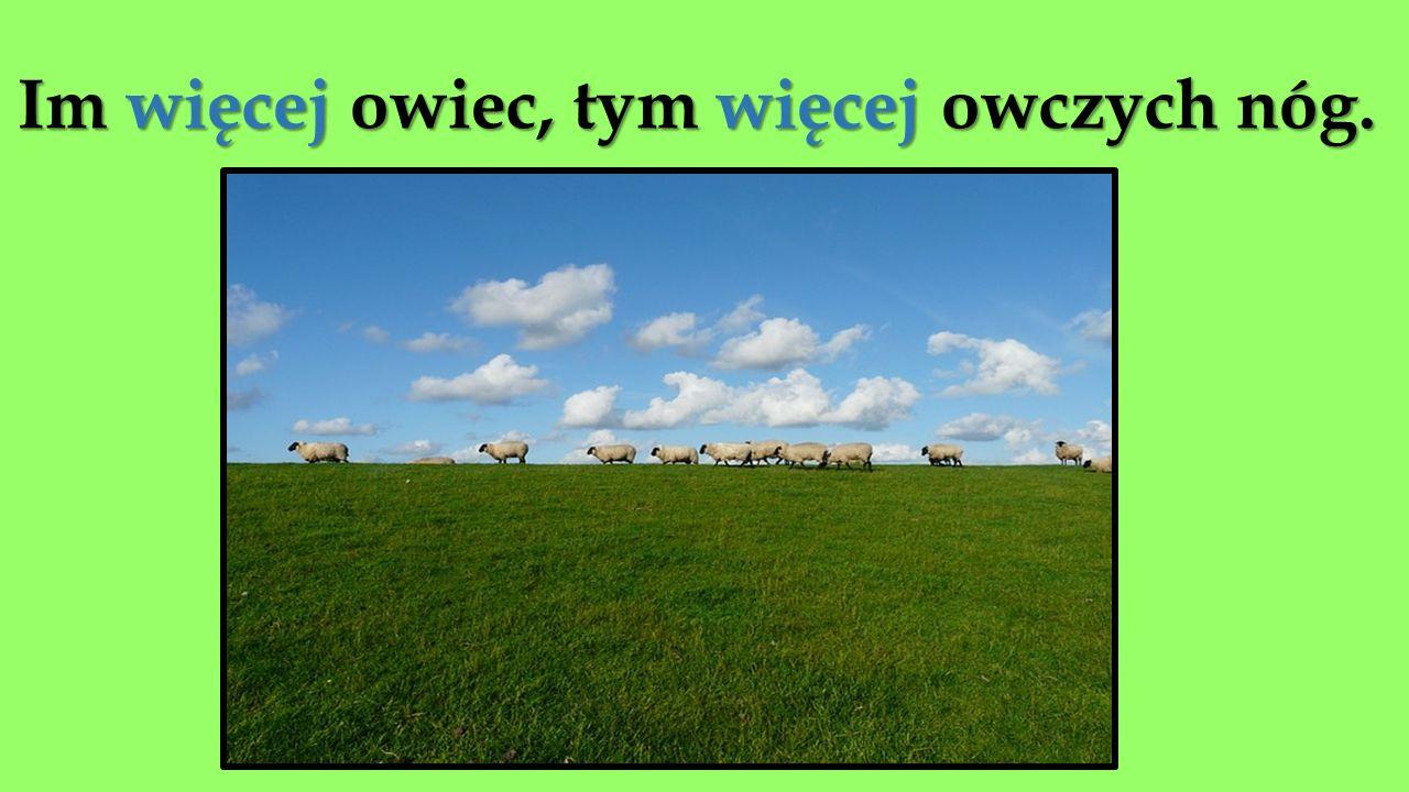 Im więcej owiec, tym więcej owczych nóg.