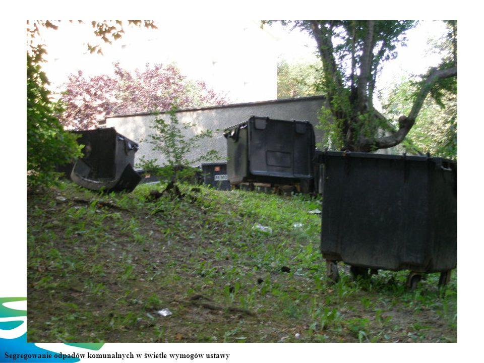 Trudne początki Segregowanie odpadów komunalnych w świetle wymogów ustawy