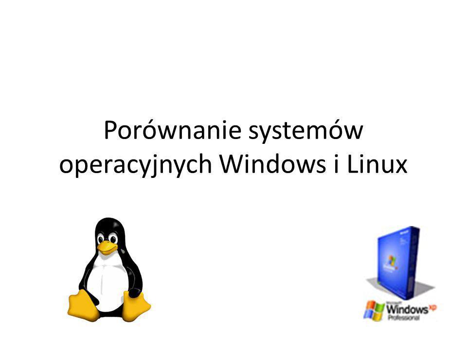 Porównanie systemów operacyjnych Windows i Linux