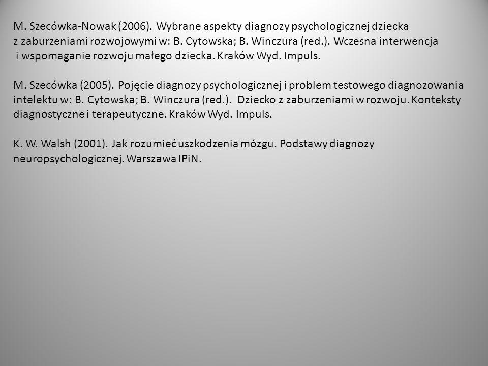 M.Szecówka-Nowak (2006).