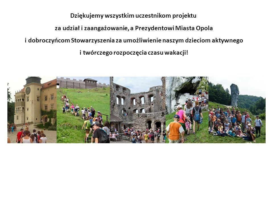 Dziękujemy wszystkim uczestnikom projektu za udział i zaangażowanie, a Prezydentowi Miasta Opola i dobroczyńcom Stowarzyszenia za umożliwienie naszym dzieciom aktywnego i twórczego rozpoczęcia czasu wakacji!