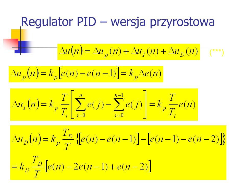 Regulator PID – wersja przyrostowa Systemy wbudowane (***)