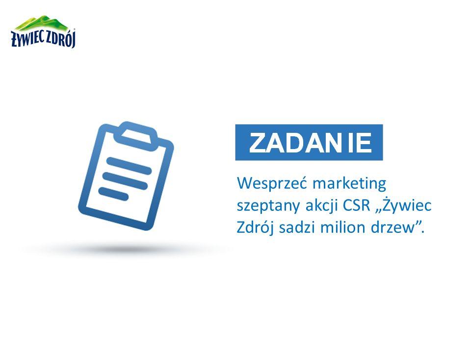 Wesprzeć marketing szeptany akcji CSR Żywiec Zdrój sadzi milion drzew.