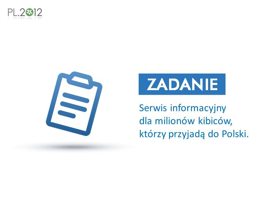 Serwis informacyjny dla milionów kibiców, którzy przyjadą do Polski.