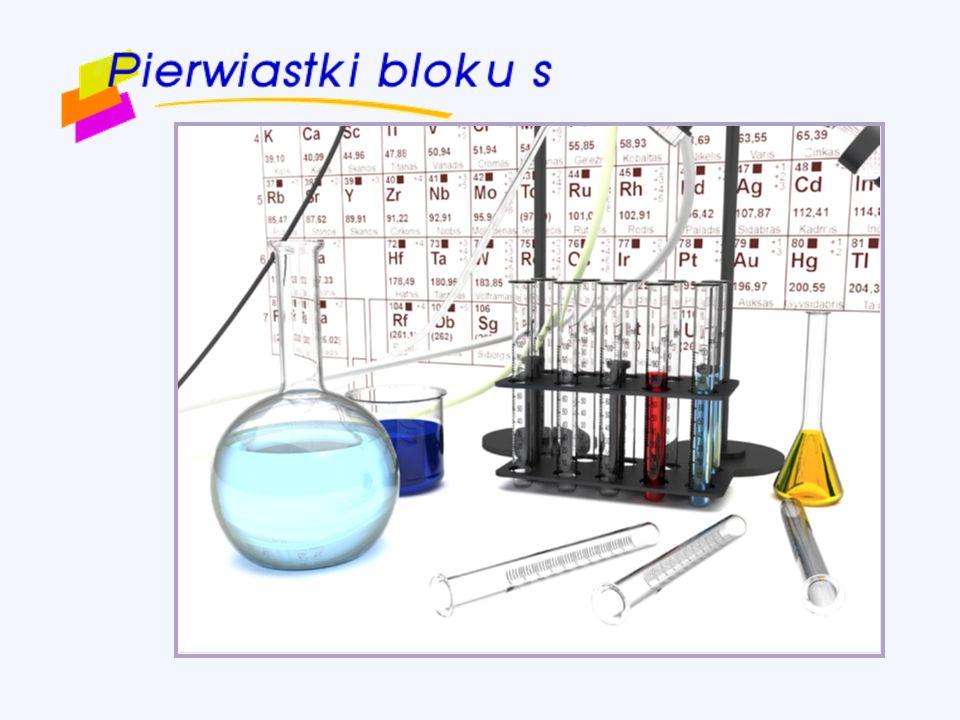 Spis treści Pierwiastki bloku s na tle układu okresowego Konfiguracja elektronowa litowców Konfiguracja elektronowa berylowców Charakterystyka litowców Właściwości chemiczne litowców Występowanie i znaczenie litowców Zastosowanie litowców Charakterystyka berylowców Właściwości chemiczne berylowców Twardość wody Znaczenie magnezu i wapnia dla organizmu Hel Wodór - właściwości chemicznewłaściwości chemiczne -- metody otrzymywania- metody otrzymywania