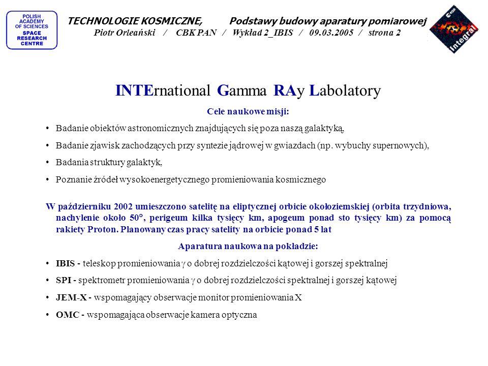 Bajkonur- połowa 2002 TECHNOLOGIE KOSMICZNE, Podstawy budowy aparatury pomiarowej Piotr Orleański / CBK PAN / Wykład 2_IBIS / 09.03.2005 / strona 23