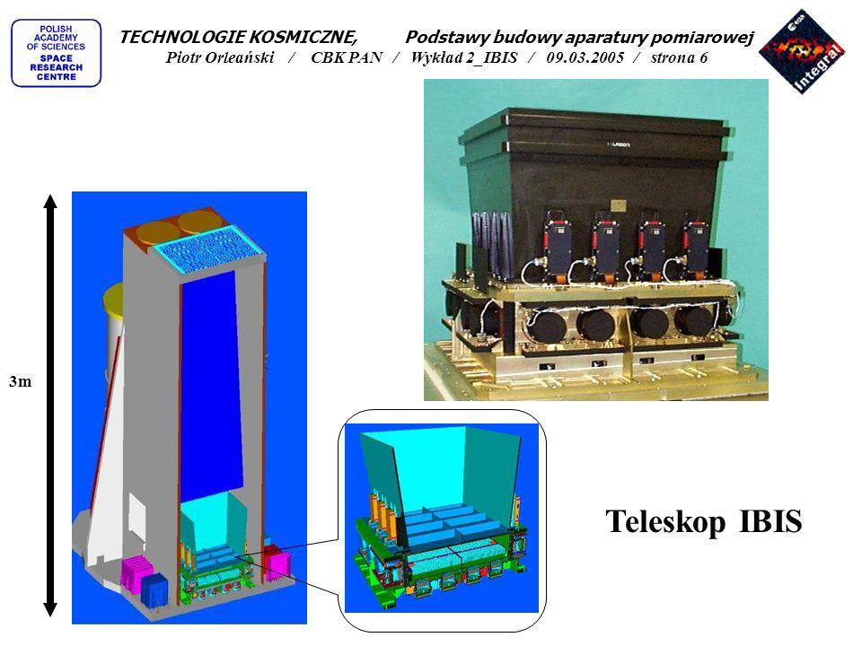 Teleskop IBIS schemat blokowy TECHNOLOGIE KOSMICZNE, Podstawy budowy aparatury pomiarowej Piotr Orleański / CBK PAN / Wykład 2_IBIS / 09.03.2005 / strona 7