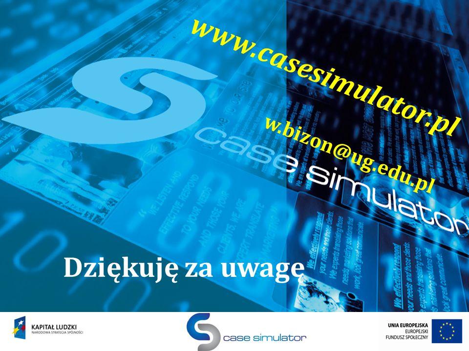 slajd 20 z 29 Dziękuję za uwagę www.casesimulator.pl w.bizon@ug.edu.pl