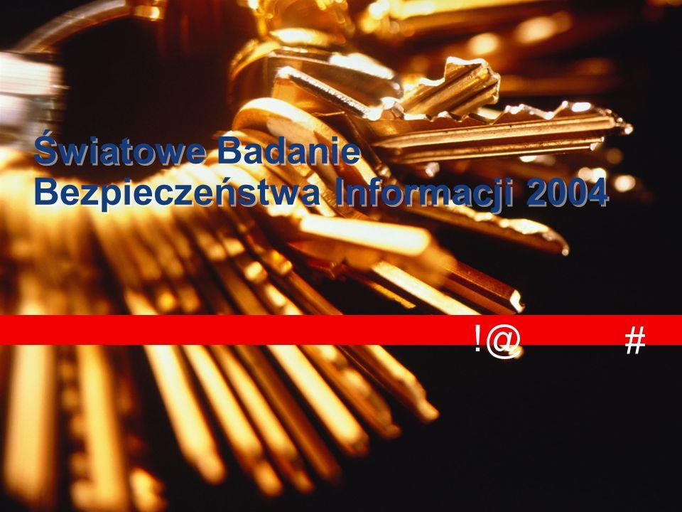 !@ # Światowe Badanie Bezpieczeństwa Informacji 2004