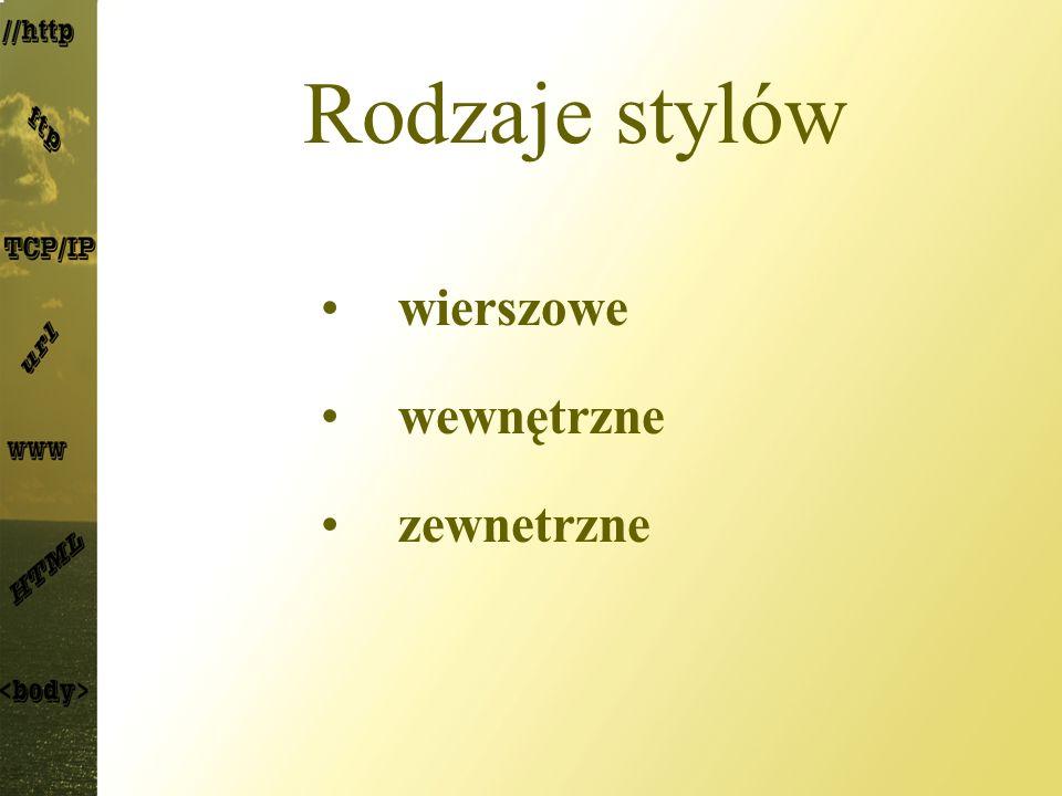 InactiveCaption – kolor paska tytułu nieaktywnego okna; InactiveCaptionText – kolor tekstu na pasku tytułu nieaktywnego okna; InfoBackground – kolor tła podpowiedzi; InfoText – kolor tekstu podpowiedzi; Menu – kolor tła menu; MenuText – kolor tekstu menu; Scrollbar – kolor głównej części paska przewijania; ThreeDDarkShadow – ciemniejszy cień elementów wyświetlanych jako trójwymiarowe; ThreeDface – główny kolor elementów wyświetlanych jako trójwymiarowe;