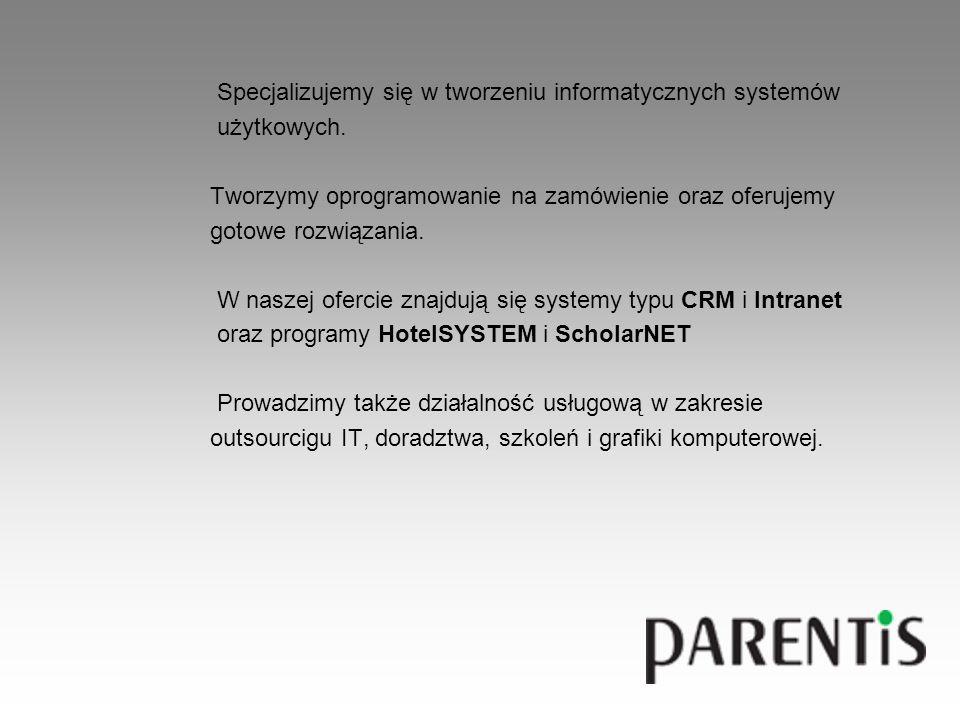 Specjalizujemy się w tworzeniu informatycznych systemów użytkowych.