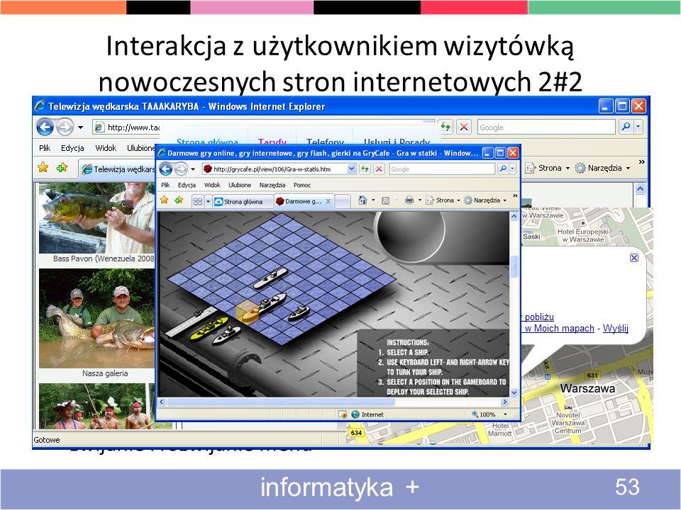 Interakcja z użytkownikiem wizytówką nowoczesnych stron internetowych 2#2 podświetlanie przycisków po najechaniu kursorem myszy zmiana kształtu kursor
