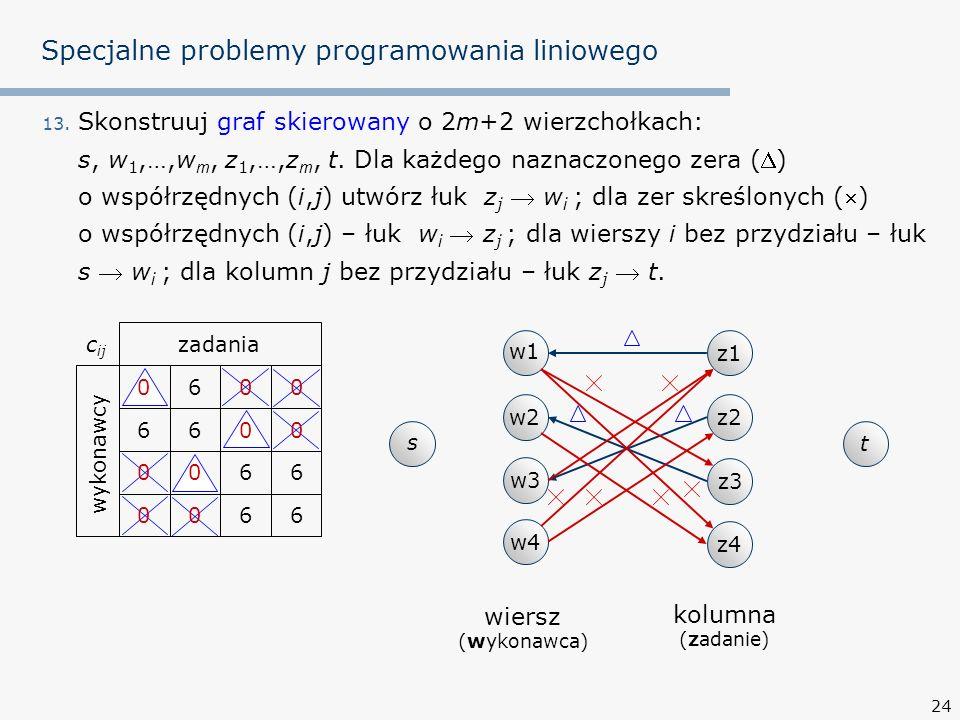 24 Specjalne problemy programowania liniowego 13.