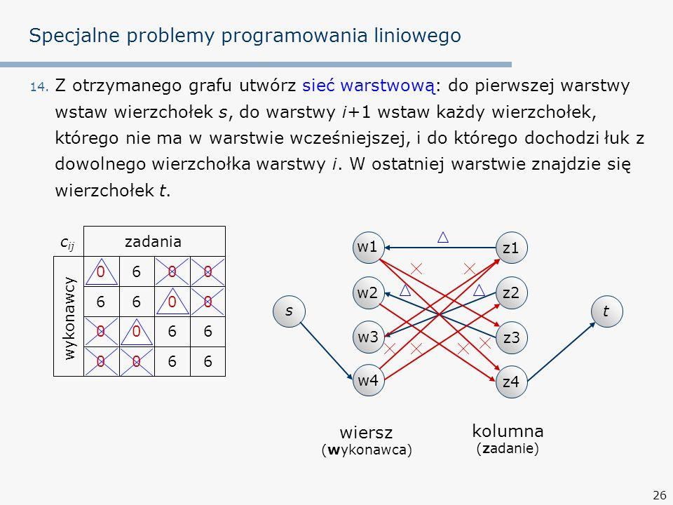 26 Specjalne problemy programowania liniowego 14.