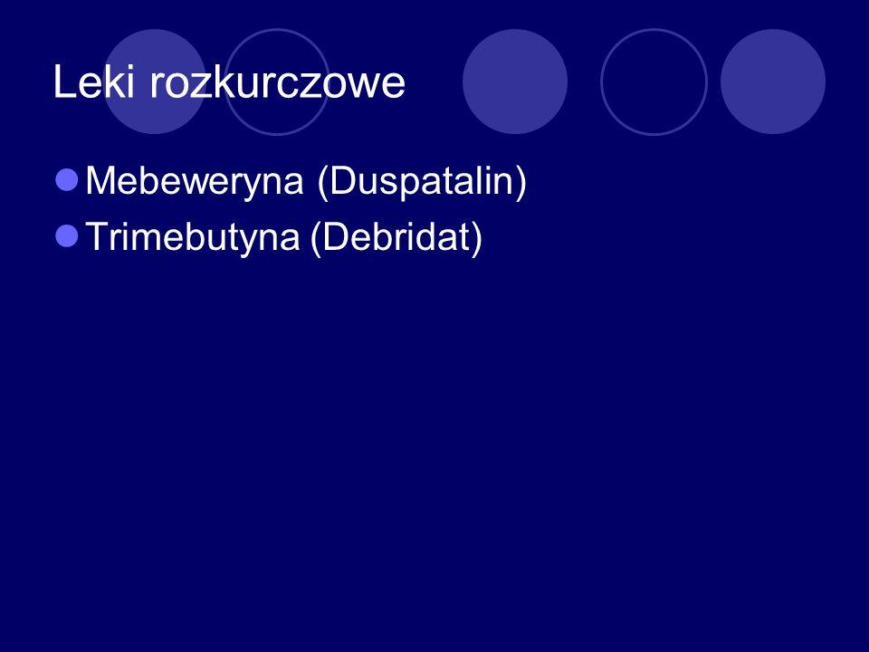 Leki rozkurczowe Mebeweryna (Duspatalin) Trimebutyna (Debridat)