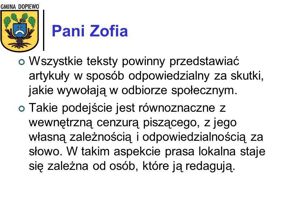Pani Małgorzata Tak… Czytam i Echo i Gońca.