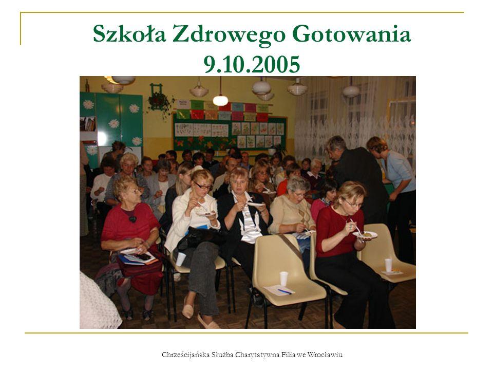 Chrześcijańska Służba Charytatywna Filia we Wrocławiu Światowy Dzień Rzucania Palenia 6.11.2005