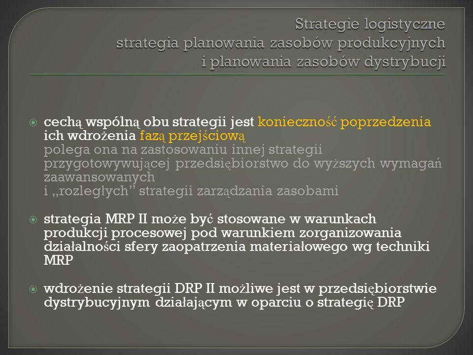 cech ą wspóln ą obu strategii jest konieczno ść poprzedzenia ich wdro ż enia faz ą przej ś ciow ą polega ona na zastosowaniu innej strategii przygotow