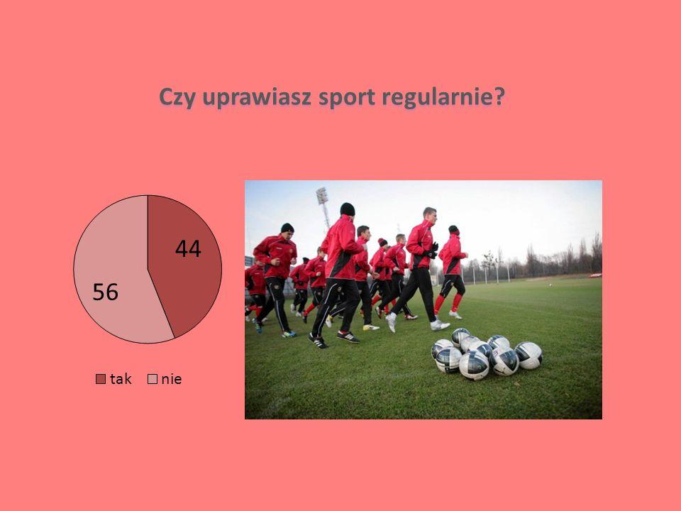 Czy uprawiasz sport regularnie?