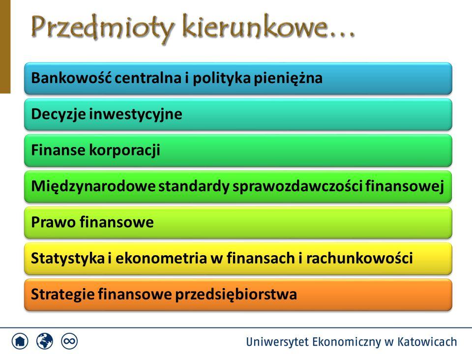 Bankowość centralna i polityka pieniężnaDecyzje inwestycyjneFinanse korporacjiMiędzynarodowe standardy sprawozdawczości finansowejPrawo finansoweStaty