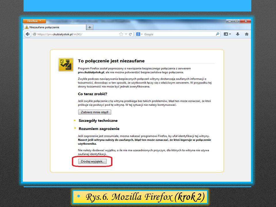 Rys.6. Mozilla Firefox (krok 2)