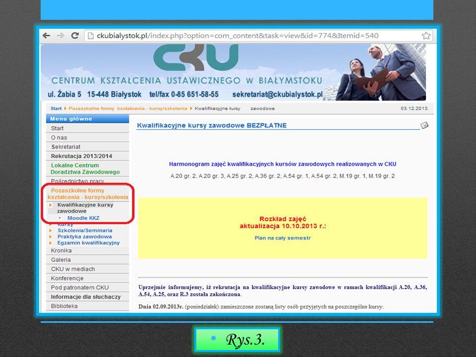 Po wejściu w Moodle KKZ, następuje przekierowanie na stronę z certyfikatem bezpieczeństwa, który służy do zweryfikowania tożsamości witryny internetowej.