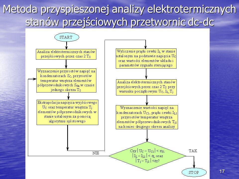 17 Metoda przyspieszonej analizy elektrotermicznych stanów przejściowych przetwornic dc-dc