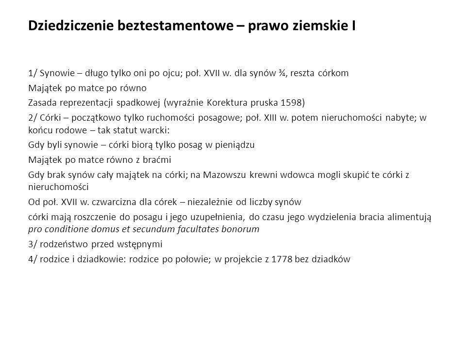Prawo spadkowe w okresie międzywojennym I Wolne prace nad kodyfikacją, 1926 H.