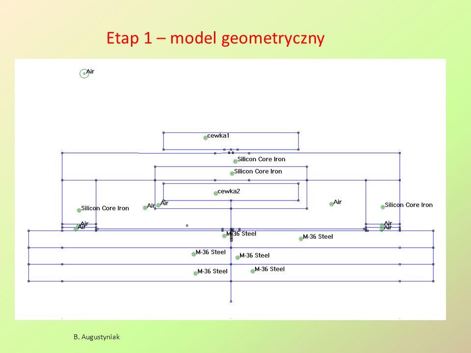 Wpływ geometrii solenoidu na jego pole (gęstość prądu j = 1 A/mm 2 ) - cewka długa Bt [ T ] A B A B S = 24*2 cm 2 N = 4,8 10 3 H = 20 kA/m jest 18 kA/m !!!
