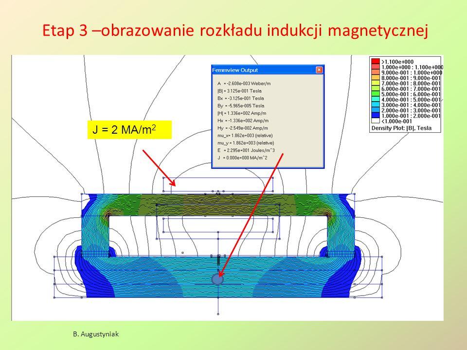 Pole magnetyczne solenoidu B. Augustyniak L = 24 cm Rw = 1 cm Rz = 3 cm j = 1 A/mm 2 L Rw Rz