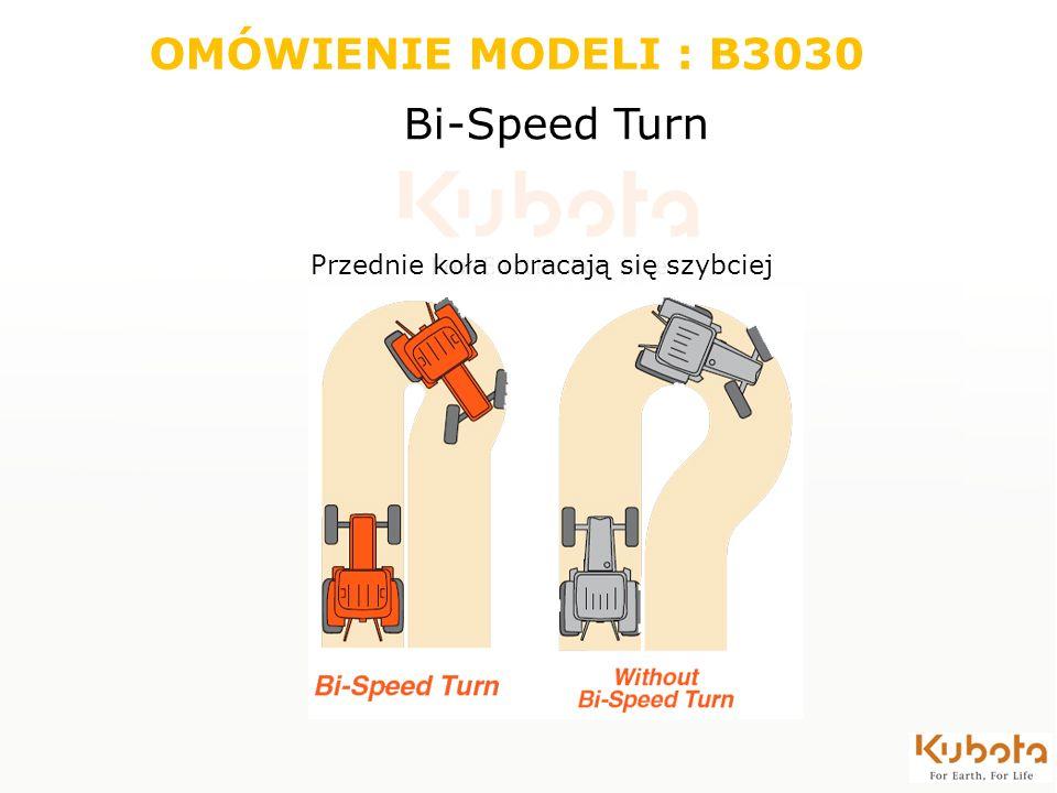 OMÓWIENIE MODELI : B3030 Bi-Speed Turn Przednie koła obracają się szybciej