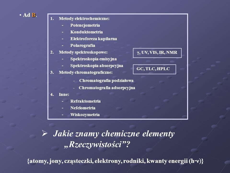 Podstawowe pojęcia i prawa chemiczne: Mol Do określenia liczności elementów Rzeczywistości przyjęto, jako stan odniesienia: Liczba atomów C znajdująca się w 0,012 kg 12 C, to mol.