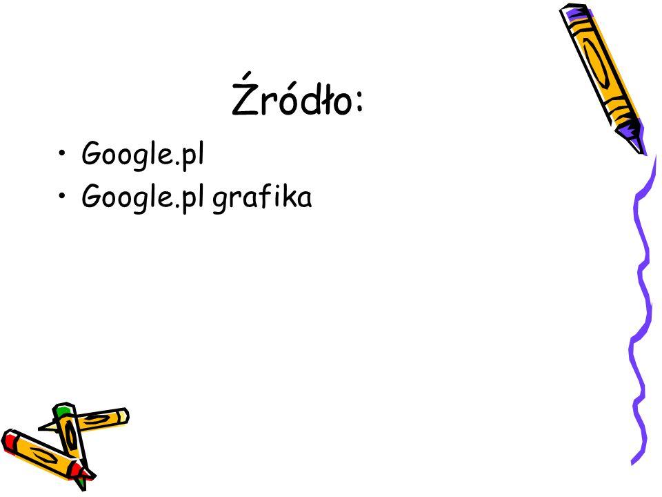 Źródło: Google.pl Google.pl grafika