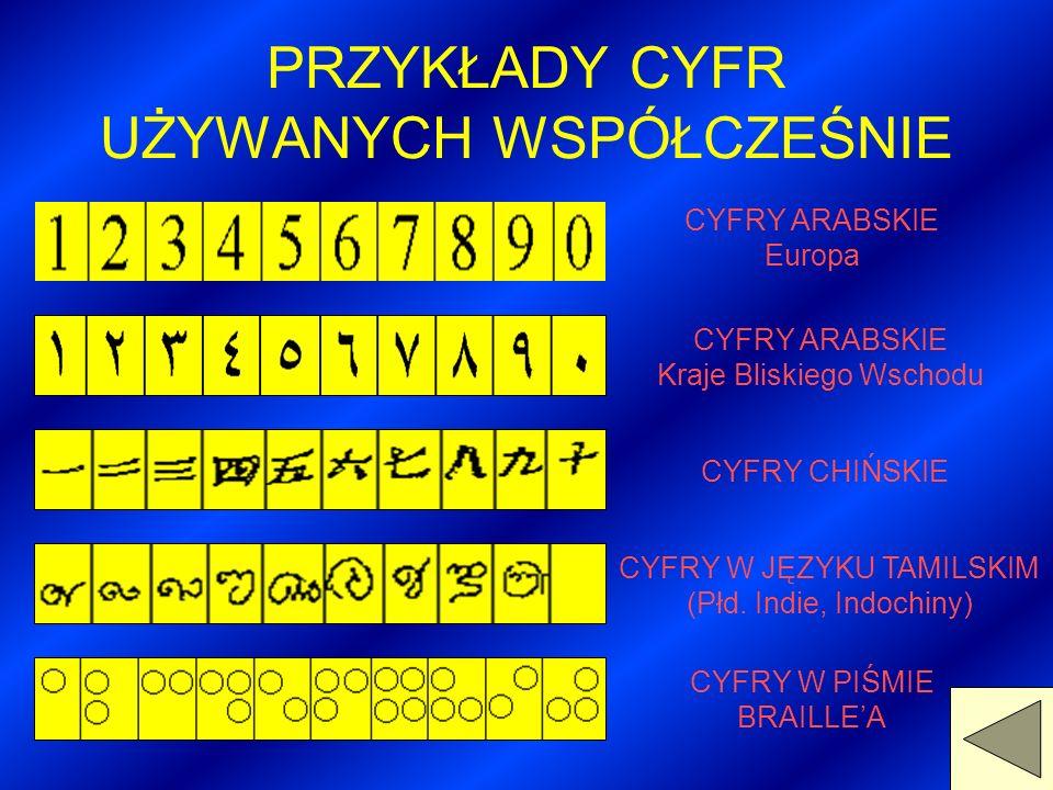 Polska była jednym z pierwszych krajów, które wprowadziły u siebie cyfry hinduskie. Było to w XIV w. Oczywiście hindusko - arabskie cyfry nie od razu